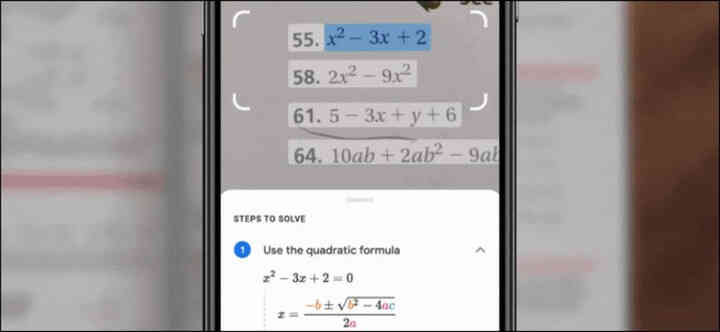 Cách giải toán nhanh bằng Google Lens