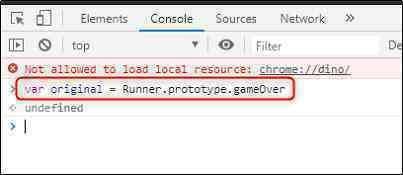 Hướng dẫn hack điểm game khủng long nhảy trên Chrome