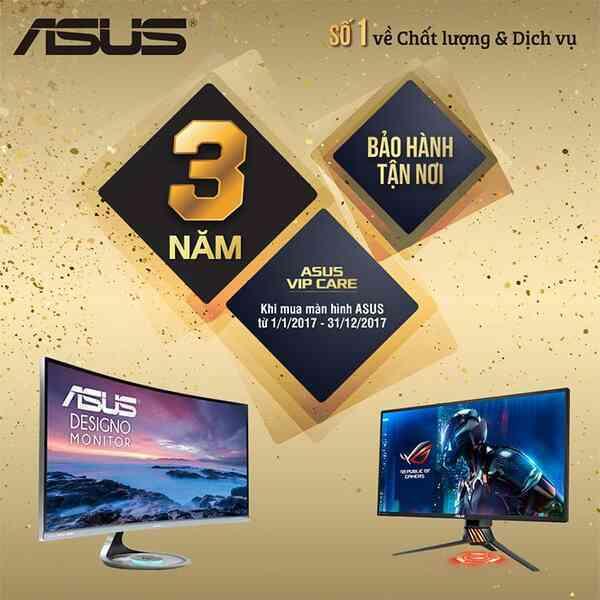 ASUS bảo hành tận nơi cho sản phẩm màn hình.