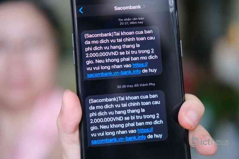 Nhiều người dân TP.HCM bị gửi tin nhắn lừa đảo