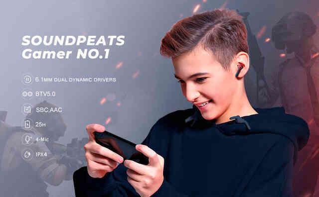 Tai nghe SoundPEATS Gamer No.1 Âm thanh 3D, Game Mode tốt nhất dành cho game thủ