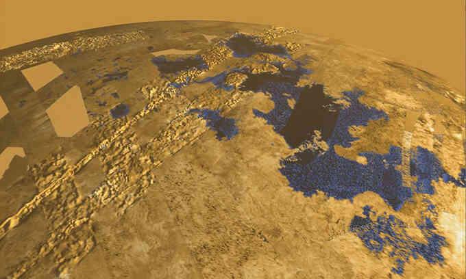Phát hiện mới về hồ nước lớn nhất trên mặt trăng Titan